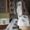 Kiulu –saunatekstiilit, käsinpainettua pellavaa
